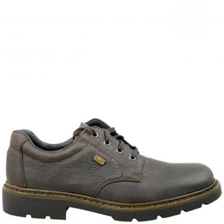 Мъжки обувки с връзки и грайферно ходило, шити и лепени със  специална Rieker-Tex мембрана 15910kk