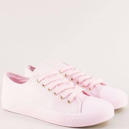 Дамски кецове в розов цвят на равно ходило- MAT STAR 163268rz