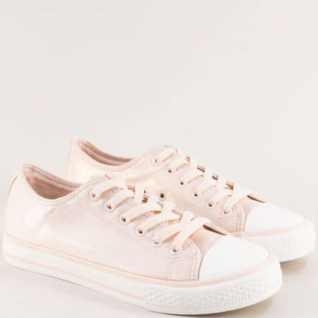 Дамски кецове в розов цвят с нежен блясък- MAT STAR 163318rz