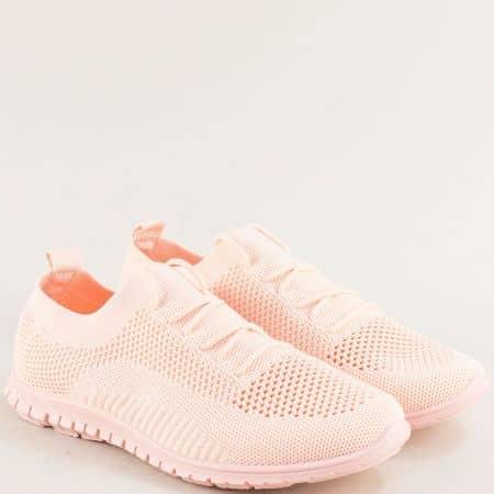 Спортни дамски обувки с връзки в розов цвят- MAT STAR 163324rz