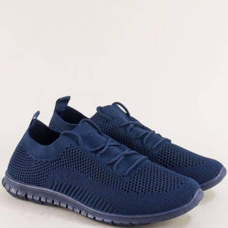 Спортни дамски обувки с връзки в син цвят- MAT STAR 163324s