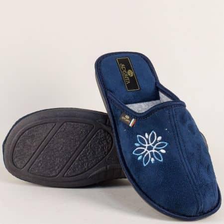 Домашни дамски пантофи в тъмно син цвят- SPESITA 17124ts