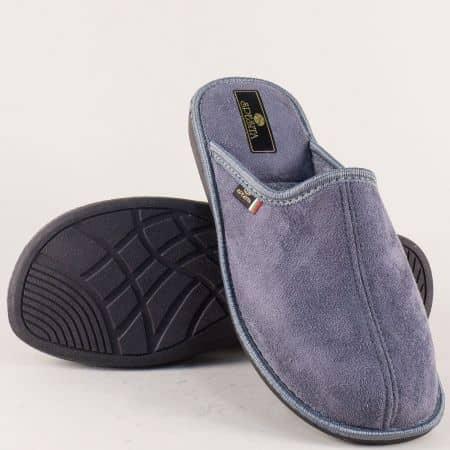 Мъжки домашни чехли в сив цвят- Spesita 17186sv