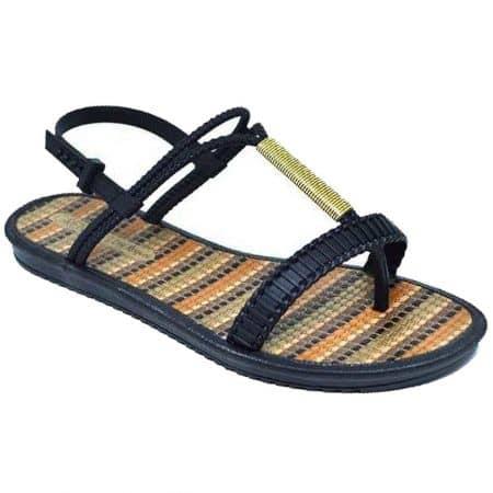 Равни дамски сандали в черен цвят- GRENDHA 1723790552