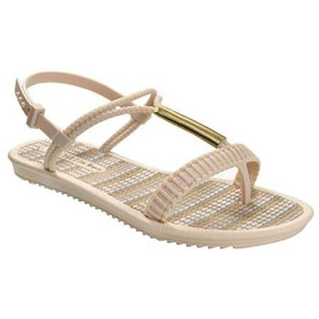 Равни дамски сандали в бежов цвят- GRENDHA 1723790554