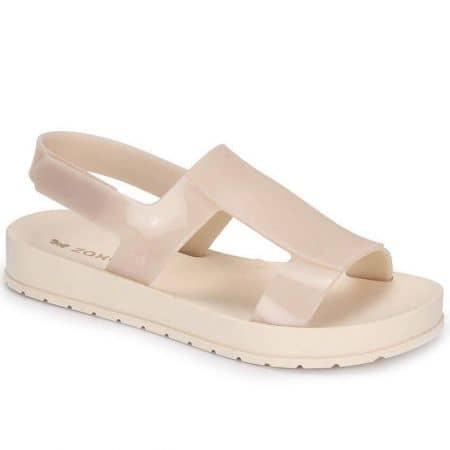 Дамски сандали с лепка в бежов цвят- ZAXY 1736890059