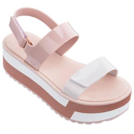 Дамски сандали на платформа в розово и бяло- ZAXY 1752590261