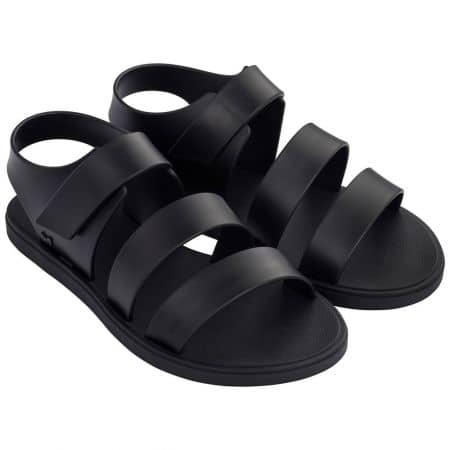 Дамски сандали в черен цвят с лепка- ZAXY 1754890058