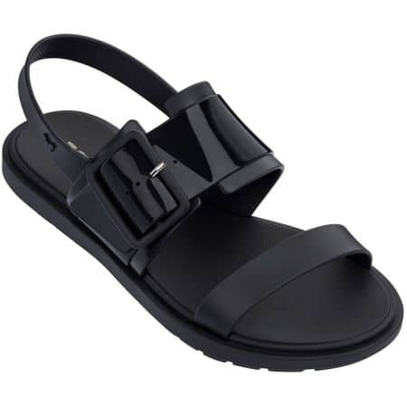 Дамски сандали на равно ходило- ZAXY в черен цвят 1755390081