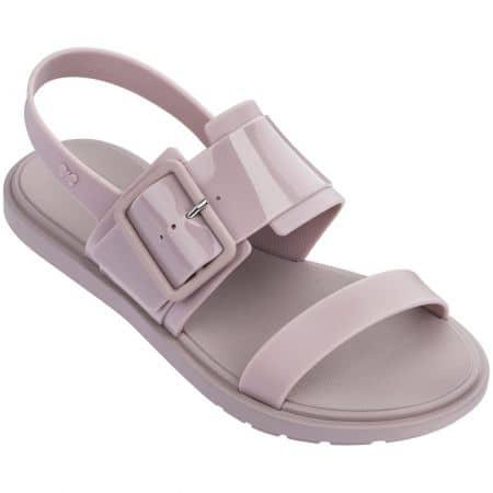 Светло лилави дамски сандали на равно ходило- ZAXY 1755390621