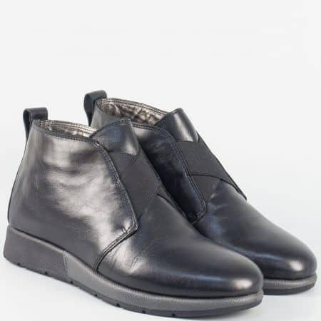 Дамски кожени боти с Flex- Comfort система- Aerosoles  в черен цвят  180916ch
