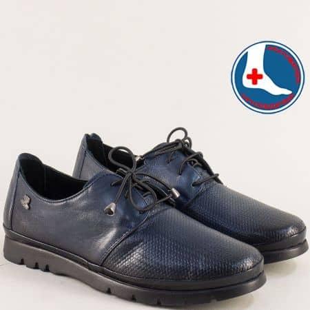 Тъмно сини дамски обувки на анатомично ходило 1813605ts