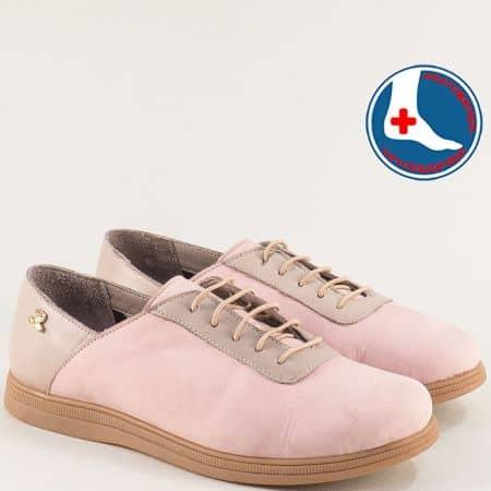Розови дамски обувки от естествена кожа и каучук 1813673rz