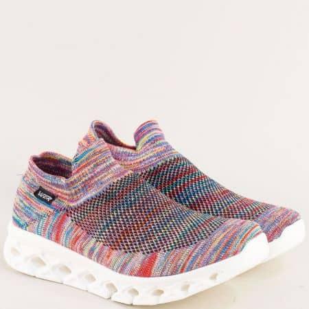 Дамски спортни обувки в розов цвят на леко ходило 1817-40rz