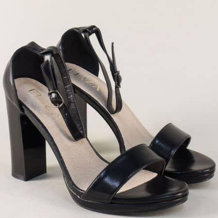 Елегантни дамски сандали в черно на висок ток  1843496ch