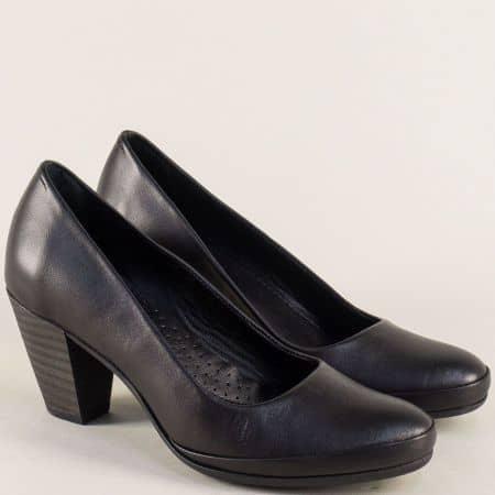 Кожени дамски обувки в черен цвят на висок ток  185512753ch