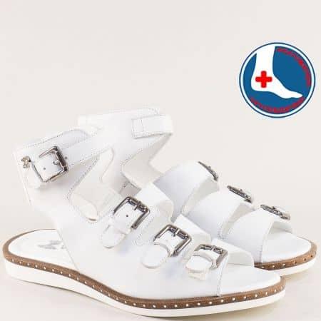 Ортопедични дамски сандали от естествена кожа в бяло 1856804b