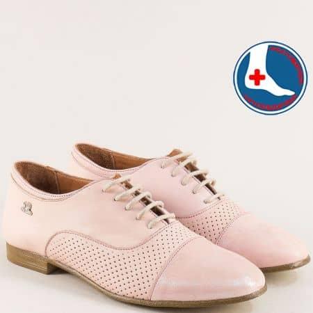 Розови дамски обувки с кожена ортопедична стелка 1856901rz