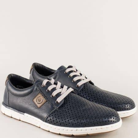 Сини мъжки обувки на бяло Antistress ходило- Rieker 18938s