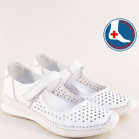 Дамски анатомични обувки от естествена кожа сперфорация и лепенка 1901772b