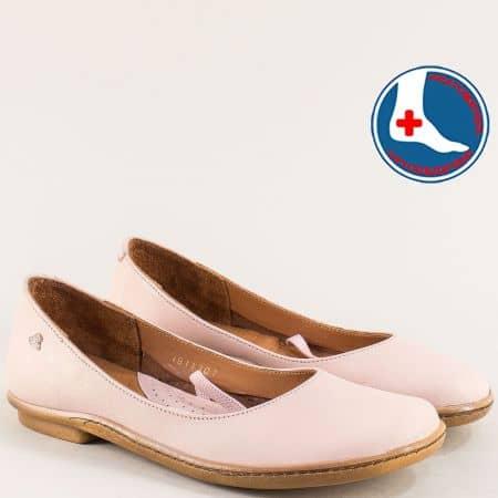 Розови дамски обувки с кожена ортопедична стелка 1911301rz
