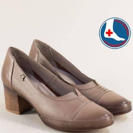 Светло кафяви дамски обувки от естествена кожа 1911901k
