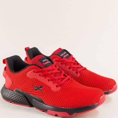 Мъжки маратонки в червен цвят- MAT STAR 194043chv