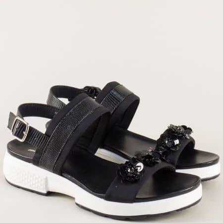 Анатомични дамски сандали в черен цвят 195009ch