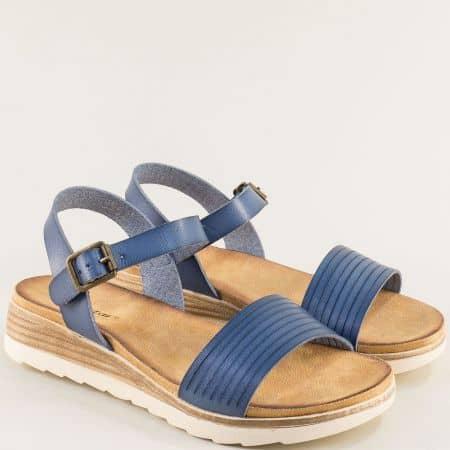 Дамски сандали в син цвят на платформа- MAT STAR 195025s