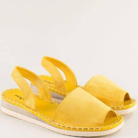 Жълти дамски сандали на равно ходило- MAT STAR 195027vj