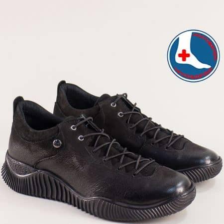Черен набук анатомични дамски обувки 1953826nch
