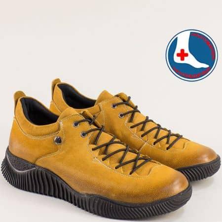 Анатомични жълти дамски обувки набук 1953826nj