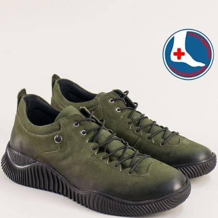 Естествен набук зелени дамски обувки 1953826nz