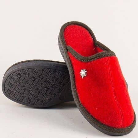 Дамски домашни пантофи в червен цвят 19617chv