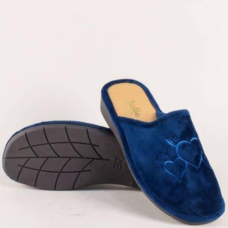 Домашни дамски чехли в син цвят- БЪЛГАРИЯ 1980141s