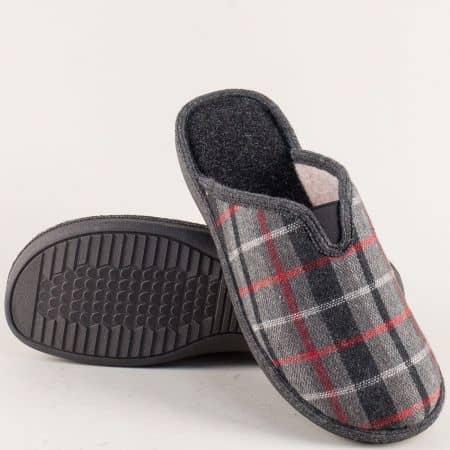 Български мъжки чехли за вкъщи на стабилно ходило 198210sv