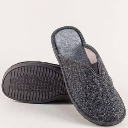 Мъжки домашни чехли в сив цвят 198211sv