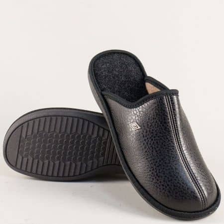 Черни мъжки чехли на комфортно ходило  198213ch