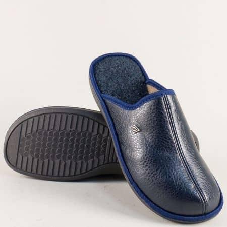 Домашни мъжки пантофи в син цвят- БЪЛГАРИЯ 198213s