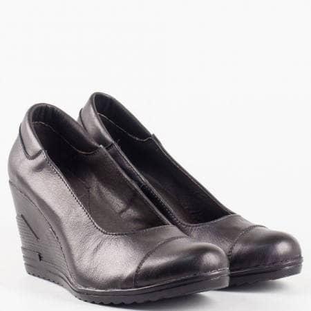 Дамски изчистен модел ежедневни обувки от 100% естествена кожа на удобно ходило с цяла платформа 20015462ch