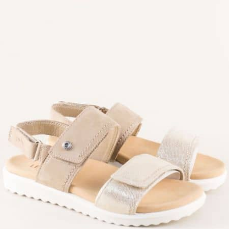 Анатомични дамски сандали в бежово и златно- Legero 200708bjzl