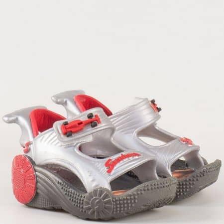 Интересни детски сандали с лепка- Rider в сиво и черно 2052821782