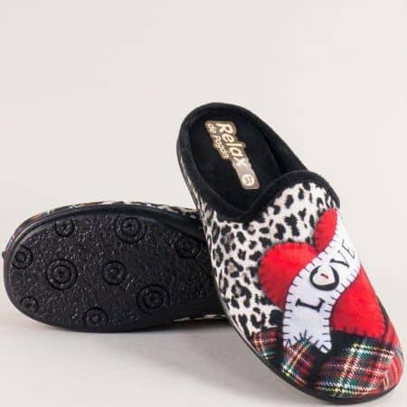 Дамски чехли в черен цвят на олекотено ходило- RELAX 2054ch