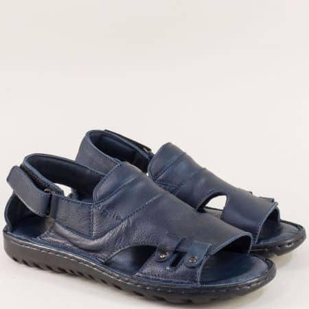 Тъмно сини мъжки сандали с вградена анти шок система 206107s