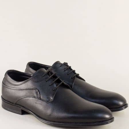 Елегантни мъжки обувки от естествена кожа в черен цвят 2099gch