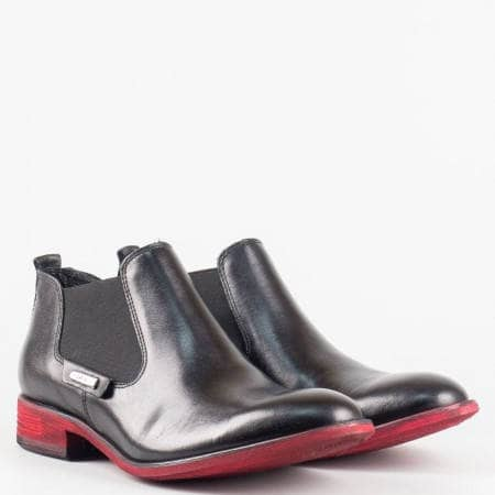 Дамски стилни боти от 100% естествени материали на полската марка Carinii в черен цвят 2219ch