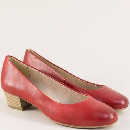 Червени дамски обувки от естествена кожа- Marco Tozzi  222306chv