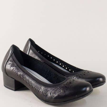 Черни дамски обувки на среден ток с Anti-shock система 222309ch