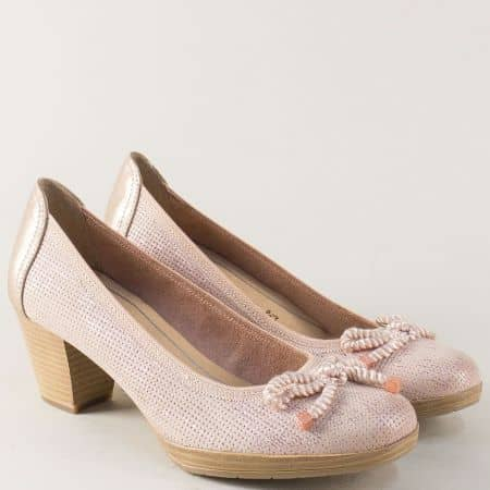 Бежови дамски обувки на среден ток с Anti-shock система 22240628nbj