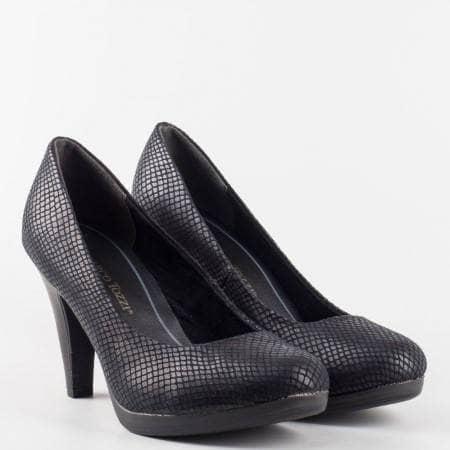 Дамска елегантна обувка със съвременен красив дизайн от висококачествена еко кожа на висок комфортен ток 222407tch